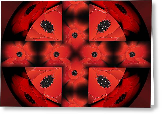 Plight Greeting Cards - Poppy Halo Greeting Card by Neil Finnemore