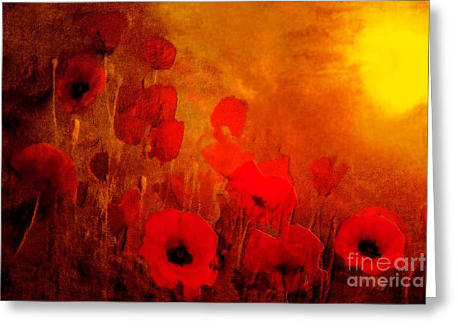 Kelly Greeting Cards - Poppy heaven Greeting Card by Valerie Anne Kelly