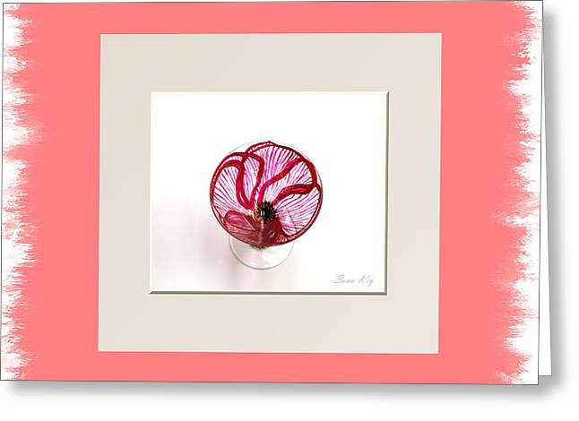Collection Glass Art Greeting Cards - Poppy. Holiday Collection Greeting Card by Oksana Semenchenko