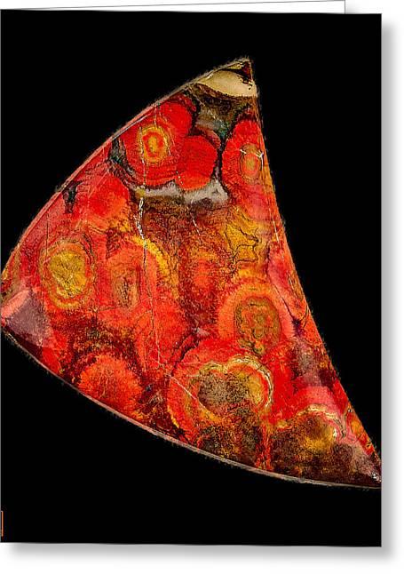 Poppy Jasper Cabochon Opus01 Greeting Card by Rock Hound