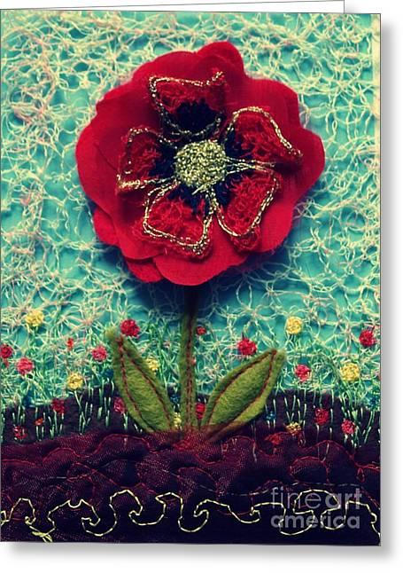Poppy Greeting Cards - Poppy Greeting Card by Jenny Mann