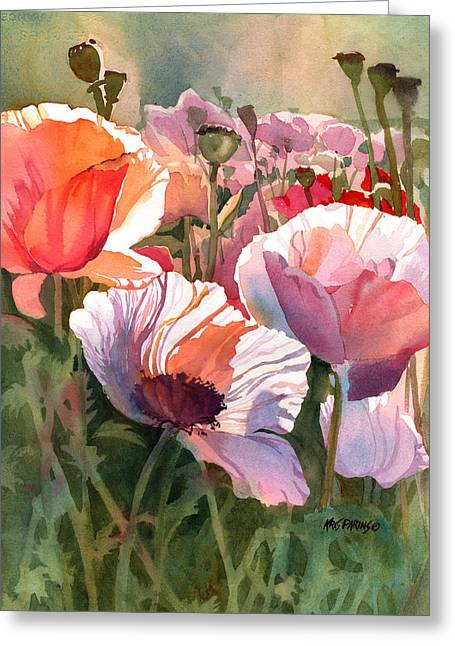 Solstice Greeting Cards - Poppy Madness Greeting Card by Kris Parins