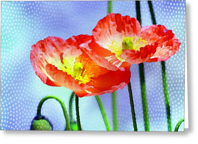Poppies Prints Greeting Cards - Poppy series - Garden Views Greeting Card by Moon Stumpp