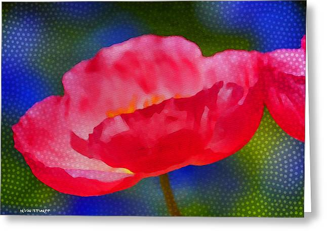 Poppies Prints Greeting Cards - Poppy series - Touch Greeting Card by Moon Stumpp