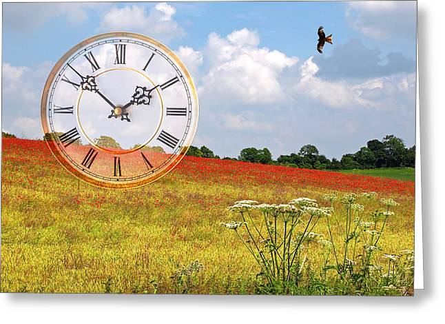 Poppy Time Greeting Card by Gill Billington
