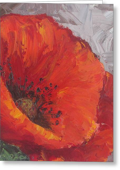 Poppy1 Greeting Card by Susan Richardson
