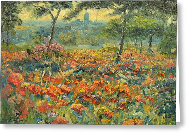 Poppyfields By Adams Greeting Card by Steve Haigh