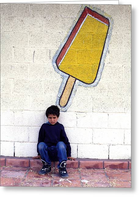 Idealized Greeting Cards - Popsicle Greeting Card by Mark Goebel