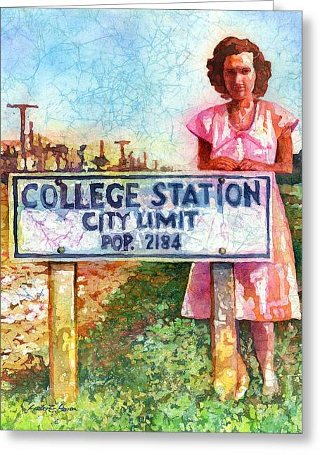 College Greeting Cards - Population 2184 Greeting Card by Hailey E Herrera