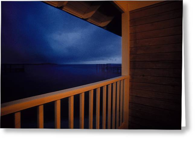 Cedar Key Greeting Cards - Porch Gazing I Greeting Card by Chuck Harris