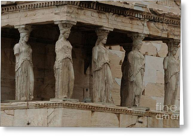 Caryatids Greeting Cards - Porch Of The Caryatids Greeting Card by Bob Christopher