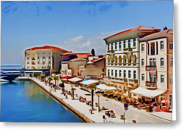 Photomanipulation Paintings Greeting Cards - Porec - Adriatic Sea Greeting Card by Nikola Durdevic