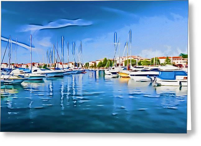 Photomanipulation Paintings Greeting Cards - Porec II Greeting Card by Nikola Durdevic