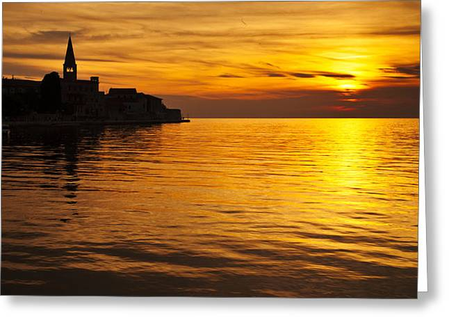 Croatia Greeting Cards - Porec sunset Greeting Card by Davorin Mance