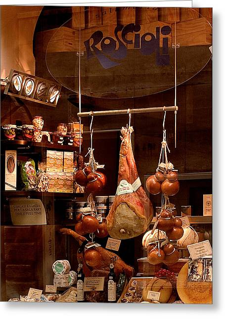 Vinegar Greeting Cards - Pork Store Rome Italy Greeting Card by Xavier Cardell