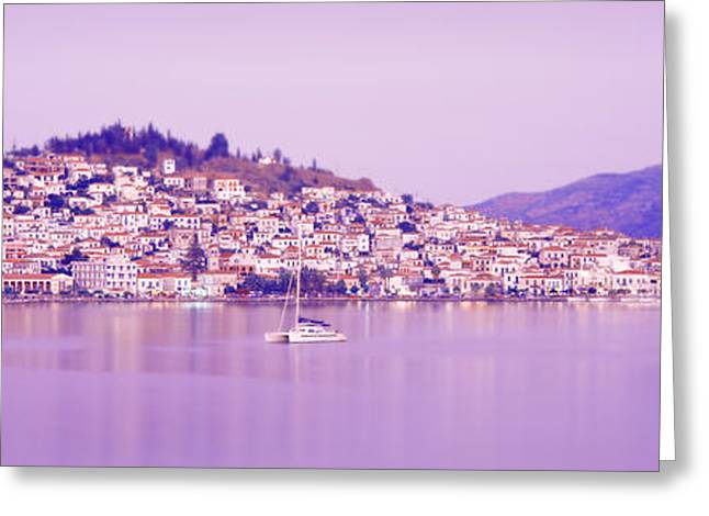 Small Towns Greeting Cards - Poros, Greece Greeting Card by Panoramic Images