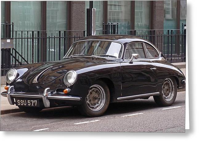 Auto Photographs Greeting Cards - Porsche 1600 Super Greeting Card by Rona Black