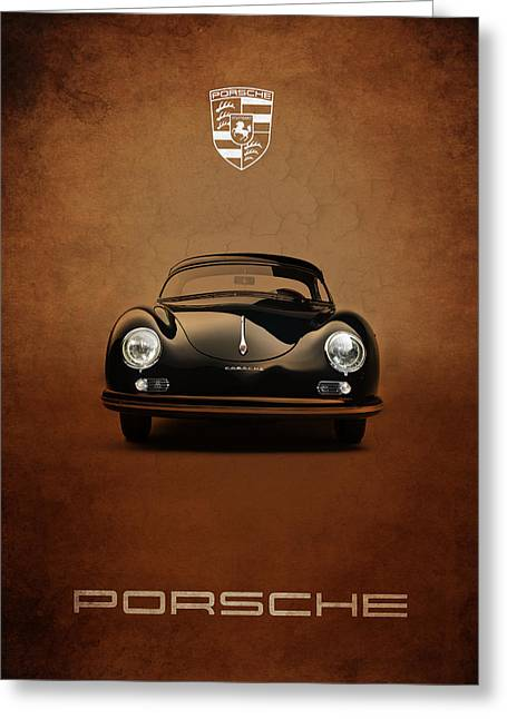 Motor Greeting Cards - Porsche 356 Greeting Card by Mark Rogan