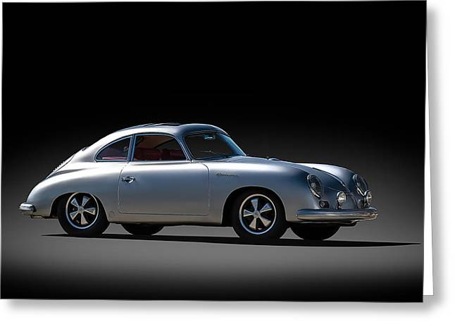 Outlaws Greeting Cards - Porsche 356 Outlaw Greeting Card by Douglas Pittman