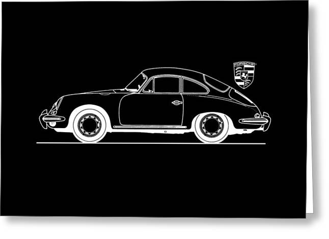 Classic Porsche 356 Greeting Cards - Porsche 356 Phone Case Greeting Card by Mark Rogan