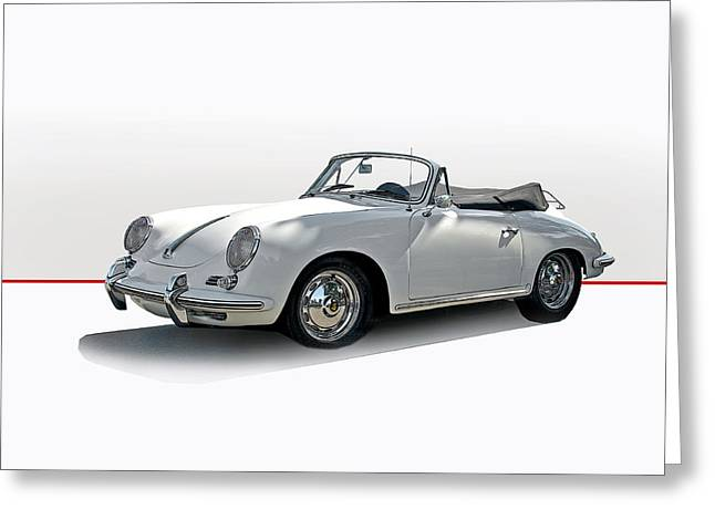 Rally Greeting Cards - Porsche 356B Cabriolet Greeting Card by Dave Koontz