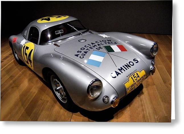 Porsche 550 Le Mans Greeting Card by Lance Vaughn