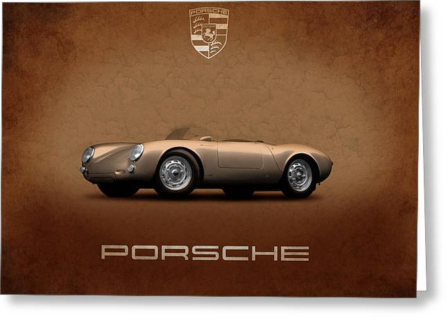 Classic Porsche 911 Greeting Cards - Porsche 550 Greeting Card by Mark Rogan