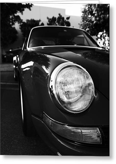 Nine Eleven Greeting Cards - Porsche 911 Front Close Up Greeting Card by Nomad Art And  Design