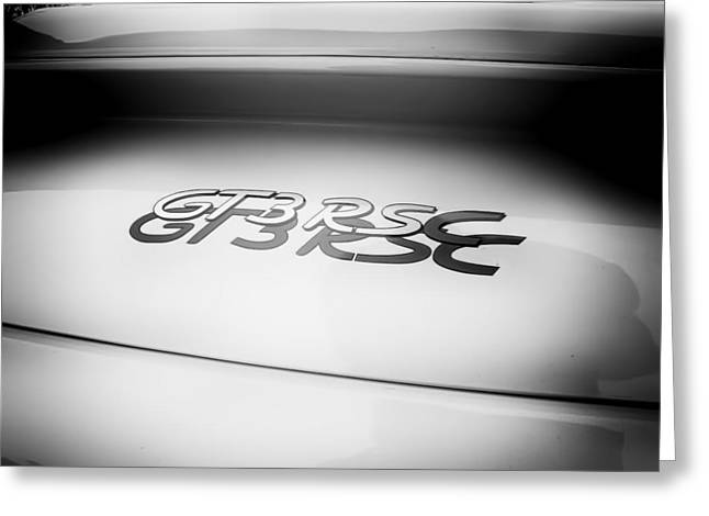 Nine Eleven Greeting Cards - Porsche 911 GT3 RSC Badge Greeting Card by Nomad Art And  Design