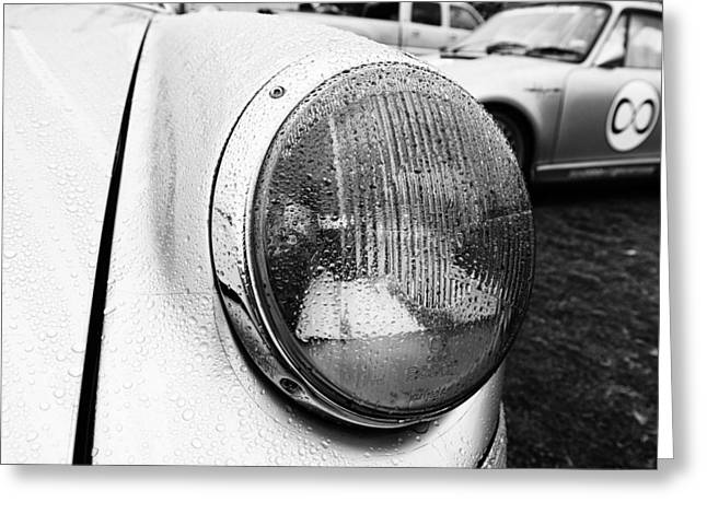 Nine Eleven Greeting Cards - Porsche 911 Headlight Close Up Greeting Card by Nomad Art And  Design