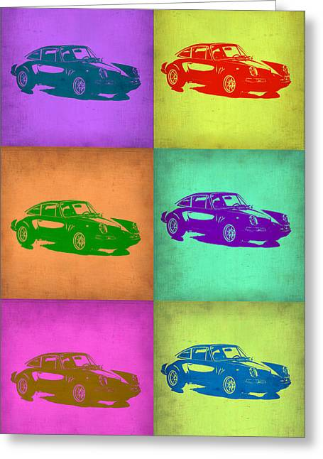 Concept Digital Art Greeting Cards - Porsche 911 Pop Art 2 Greeting Card by Naxart Studio