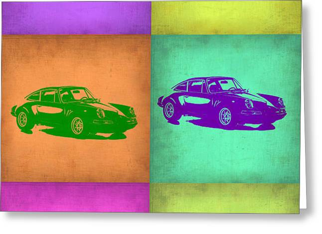 Porsche 911 Pop Art 2 Greeting Card by Naxart Studio
