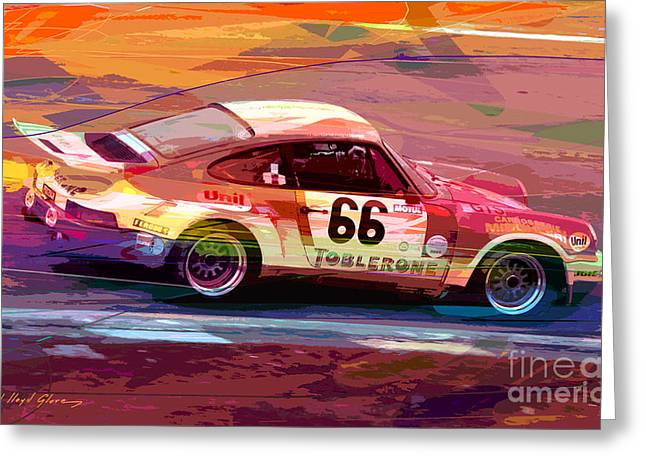 Endurance Greeting Cards - Porsche 911 Racing Greeting Card by David Lloyd Glover