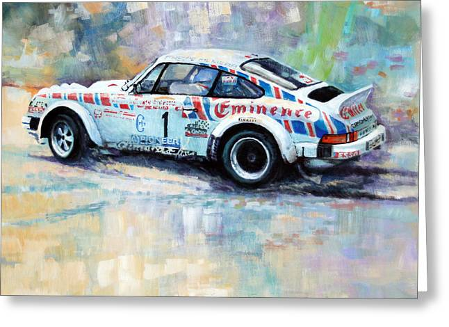 Sc Greeting Cards - Porsche 911 SC  Rallye Sanremo 1981 Greeting Card by Yuriy Shevchuk