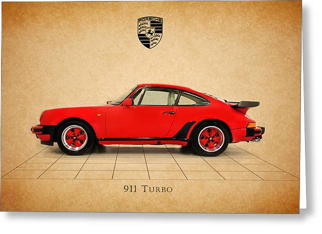 911 Greeting Cards - Porsche 911 Turbo 1985 Greeting Card by Mark Rogan