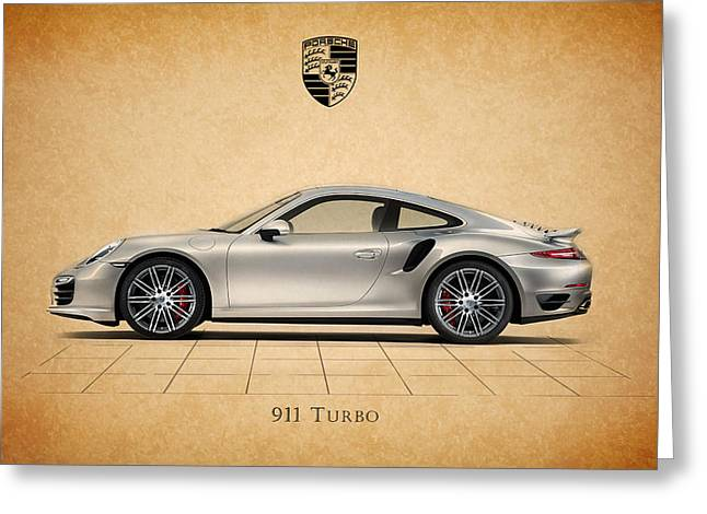 German Greeting Cards - Porsche 911 Turbo Greeting Card by Mark Rogan