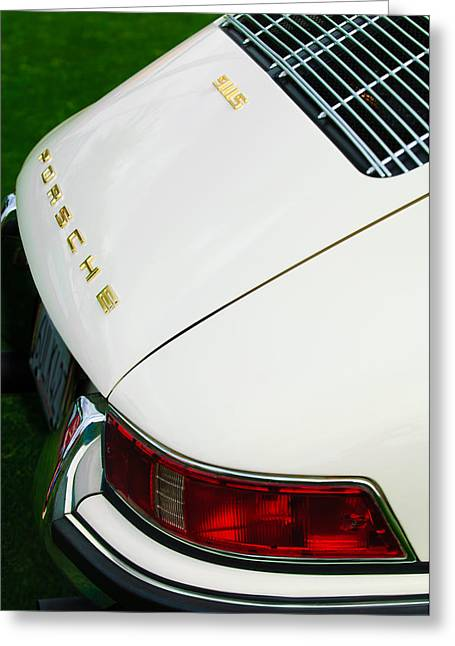 1967 Greeting Cards - 1967 Porsche 911S Taillight Emblem Greeting Card by Jill Reger