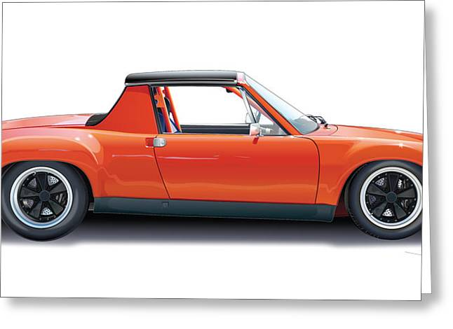 Auto Racing Greeting Cards - Porsche 914-6 GT Greeting Card by Alain Jamar