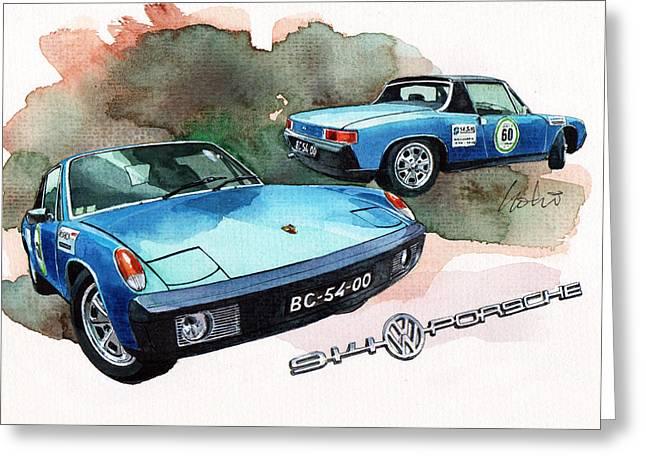 Wv Greeting Cards - Porsche 914 Greeting Card by Yoshiharu Miyakawa