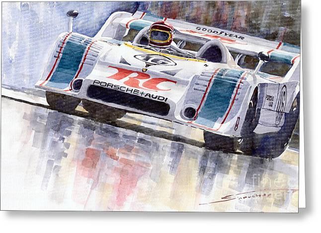 10 Greeting Cards - Porsche 917 10 RC Cola Team Follmer Greeting Card by Yuriy  Shevchuk