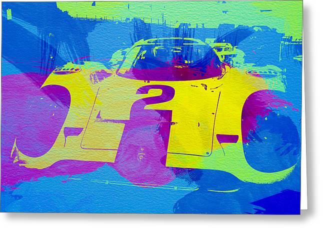 Porsche Greeting Cards - Porsche 917 Front End Greeting Card by Naxart Studio