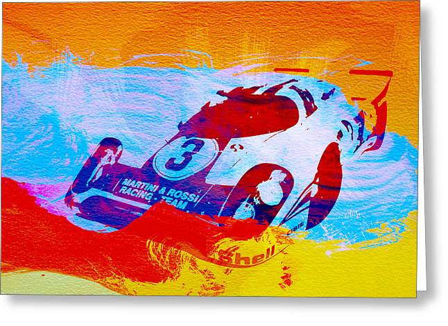 Porsche Greeting Cards - Porsche 917 Martini and Rossi Greeting Card by Naxart Studio