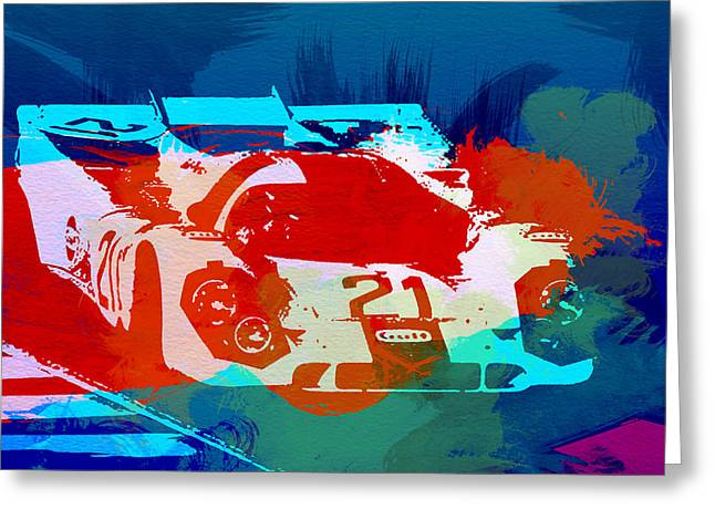 Concept Photographs Greeting Cards - Porsche 917 Racing 1 Greeting Card by Naxart Studio