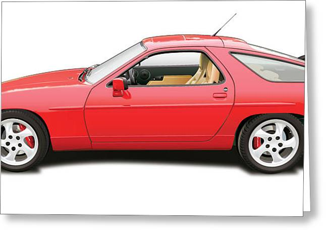 Southern Cal Auto Show Greeting Cards - porsche 928 S4 Greeting Card by Alain Jamar