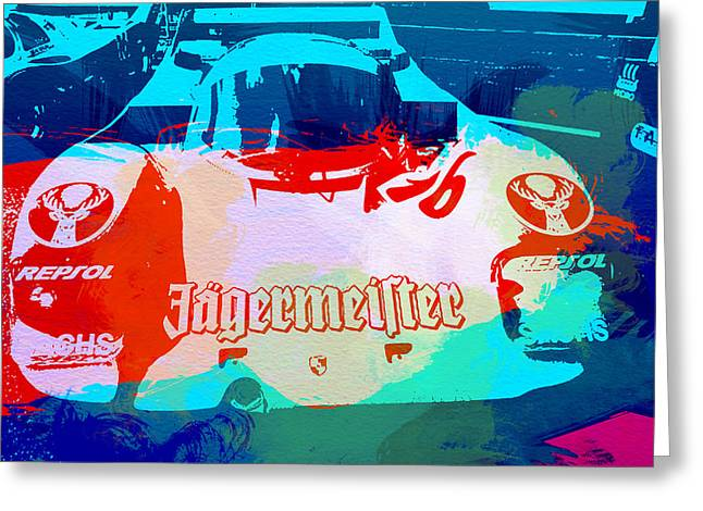Concept Photographs Greeting Cards - Porsche 956 Jagermeister Greeting Card by Naxart Studio