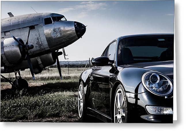 Porsche Takes Flight Greeting Card by Bob Rapfogel