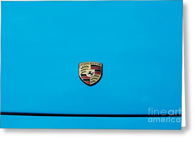 Blue Car. Greeting Cards - Porsche Blue Greeting Card by Tim Gainey