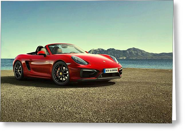 Movie Poster Prints Greeting Cards - Porsche Boxster G T S Greeting Card by Movie Poster Prints
