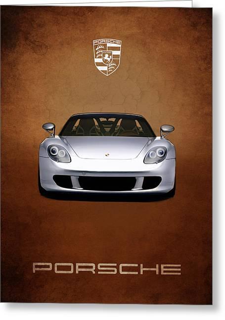 Porsche Greeting Cards - Porsche Carrera GT Greeting Card by Mark Rogan