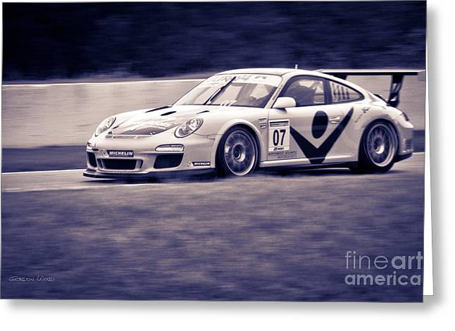 Andretti Greeting Cards - Porsche Carrera in GT3 Cup Challenge 2014 Greeting Card by Gordon Wood